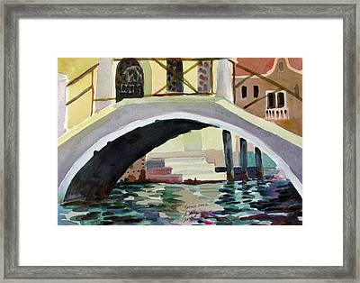 Bridge Reflections Venice Framed Print