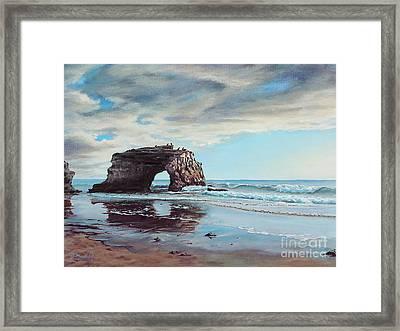 Bridge Rock Framed Print by Joe Mandrick