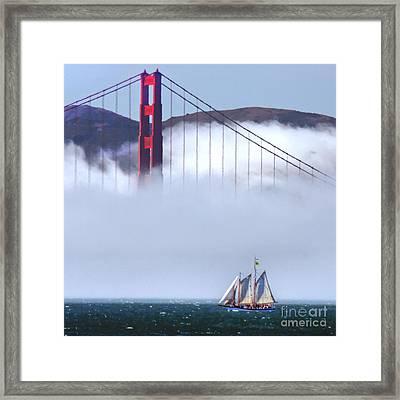 Bridge Sailing Framed Print
