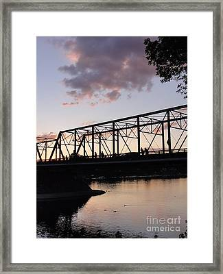 Bridge Scenes August - 1 Framed Print