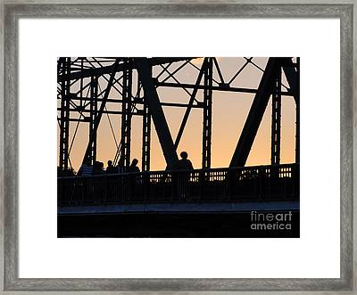Bridge Scenes August - 2 Framed Print