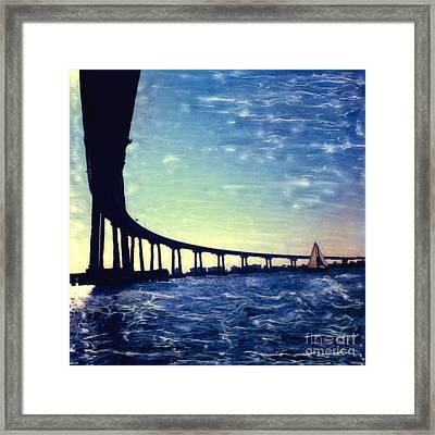 Bridge Shadow Framed Print