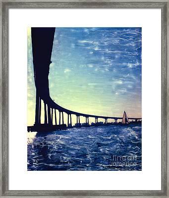 Bridge Shadow - Vertical Framed Print