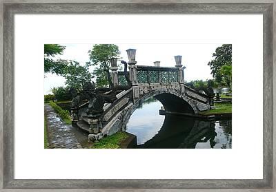 bridge side Bali Framed Print by Jack Edson Adams