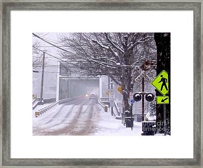 Bridge Street To New Hope Framed Print