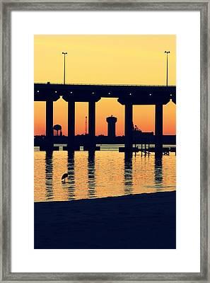 Bridge Sunset Framed Print by Hillery Bosarge