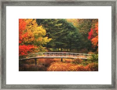 Bridge To Autumn Framed Print by Karol Livote
