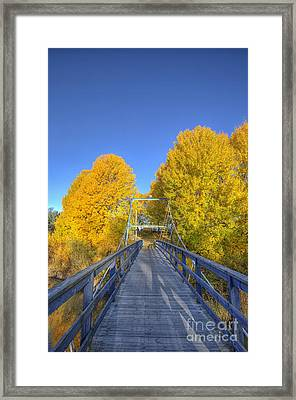 Bridge To Autumn Framed Print by Veikko Suikkanen