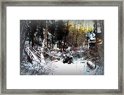 Bridge To Bridge - Naramata Bc 02-28-2014 Framed Print by Guy Hoffman