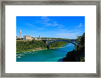 Bridge To Canada Framed Print
