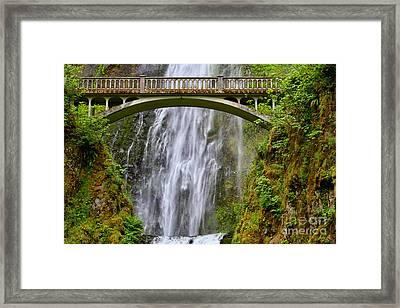 Bridge To Eden Framed Print by Leslie Kirk