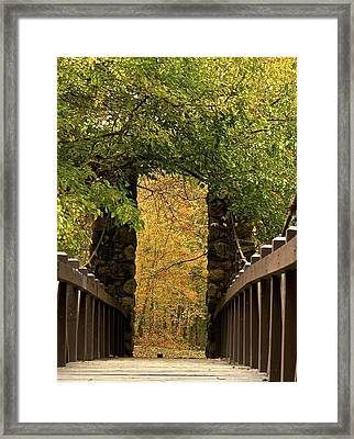 Bridge To Enchantment Framed Print by Kimberly Davidson