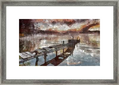 Framed Print featuring the painting Bridge To Eternity by Georgi Dimitrov