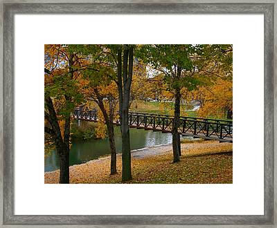 Framed Print featuring the photograph Bridge To Fall by Elizabeth Winter