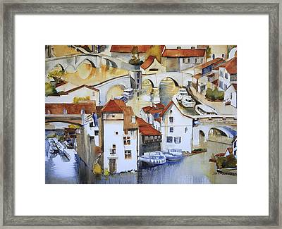 Bridge To Lock Framed Print