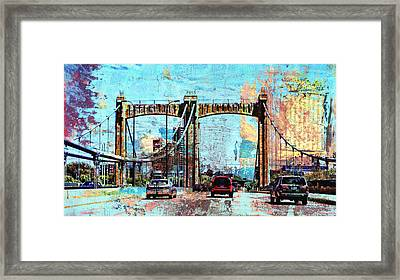 Bridge To Minneapolis Framed Print
