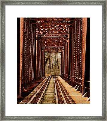 Bridge To Nowhere Framed Print by David Mace