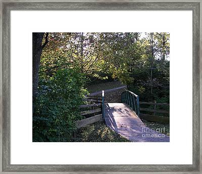 Bridge To Nowhere Framed Print by Mel Steinhauer