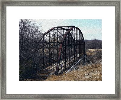 Bridge To Nowhere Framed Print by R McLellan