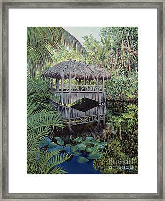 Bridge To Paradise Framed Print by Danielle  Perry