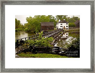 Framed Print featuring the photograph Bridge To Philipsburg Manor Mill House by Jerry Cowart