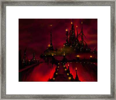 Bridge To Red Castle Framed Print by James Christopher Hill