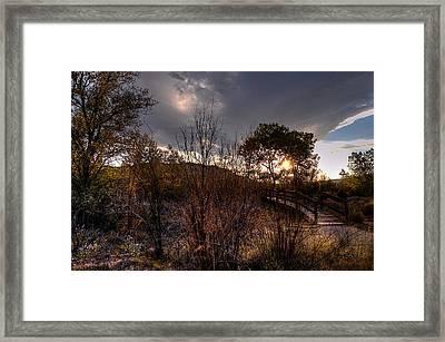 Bridge To Sunset Framed Print