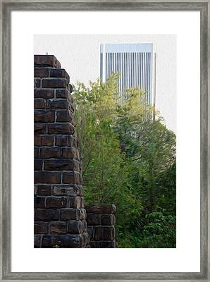 Framed Print featuring the digital art Bridge To The Future by Kelvin Booker