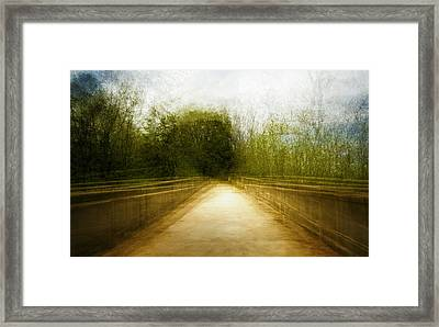 Bridge To The Invisible Framed Print