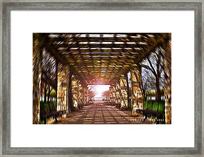 Framed Print featuring the photograph Bridge To The Light From The Series The Imprint Of Man In Nature by Verana Stark