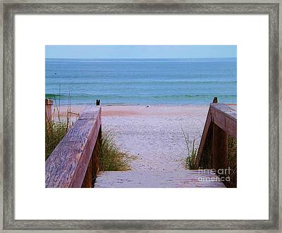 Bridge To The Sea Framed Print