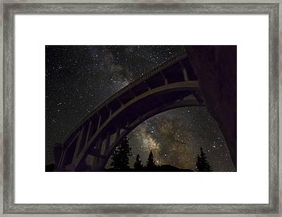 Bridge To The Stars Framed Print by Jeremy Jensen