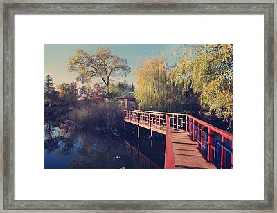 Bridge To Zen Framed Print by Laurie Search