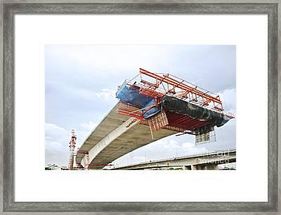 Bridge Under Construction Framed Print