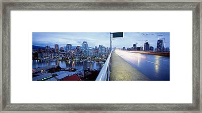 Bridge, Vancouver, British Columbia Framed Print