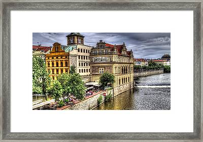 Bridge View - Prague Framed Print by Jon Berghoff