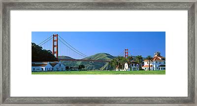 Bridge Viewed From A Park, Golden Gate Framed Print