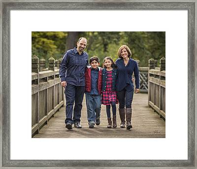 Bridge Walk - Group Hug Framed Print