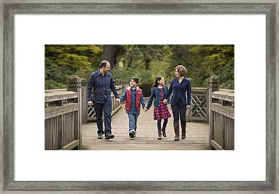 Bridge Walk Framed Print