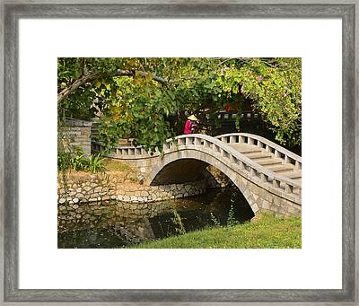 Framed Print featuring the photograph Bridge Walker China by Sally Ross