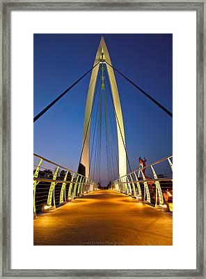 Bridge With Light Framed Print