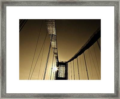 Bridge Work Framed Print