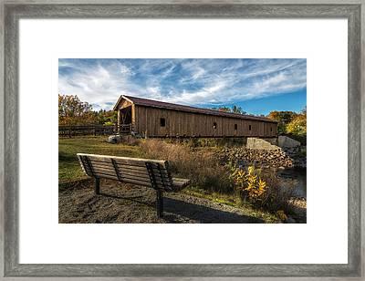 Bridgeing The Gap Framed Print by Mark Papke