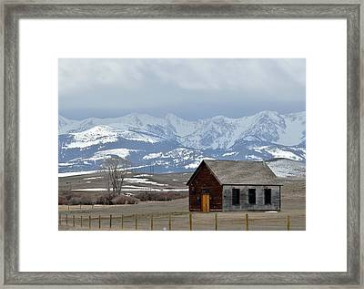 Bridger Background Framed Print by Kae Cheatham