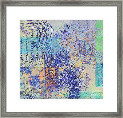 Framed Print featuring the digital art Bridges by Gabrielle Schertz