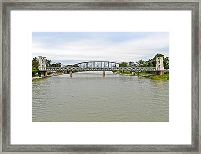 Bridges In Waco Tx Framed Print