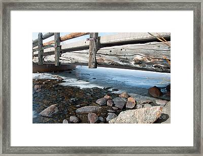 Framed Print featuring the photograph Bridges by Minnie Lippiatt