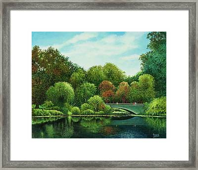 Framed Print featuring the painting Bridges Of Forest Park by Michael Frank
