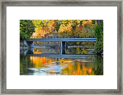 Bridges Of Madison County Framed Print by Frozen in Time Fine Art Photography