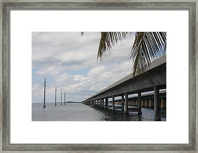 Bridges Over The Sea Framed Print by Christiane Schulze Art And Photography